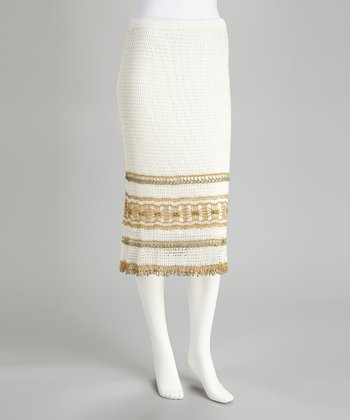 White Crocheted Skirt