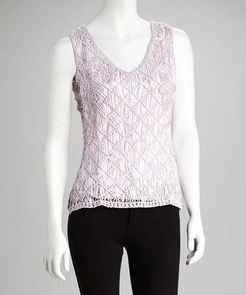 Lilac Crocheted Layered Tank