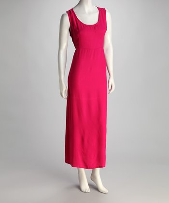 Magenta Sleeveless Maxi Dress