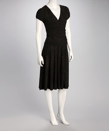Black Surplice Dress