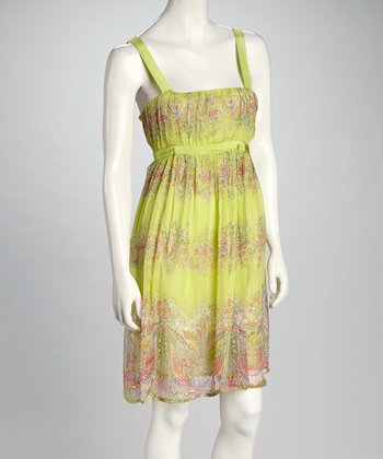 Lime & Coral Sundress