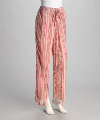 Pink Stripe Floral Pants