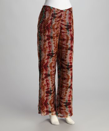 Brown Tie Dye Pants