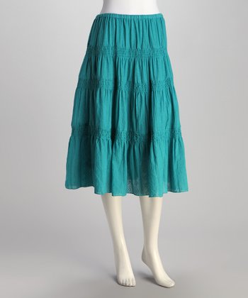 Teal Tier Skirt