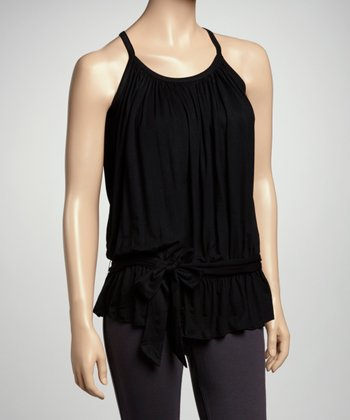 Black Belted Tank Top