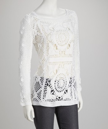 White Crocheted Top