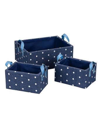 Blue Fashion Basket - Set of Three