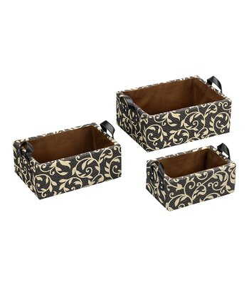 Pearl Jacquard Fashion Basket - Set of Three