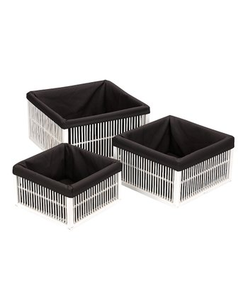 Black & White Basket Set