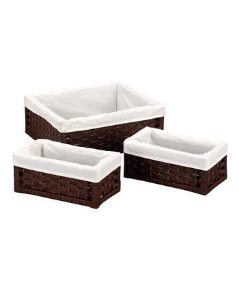 Brown Utility Basket Set