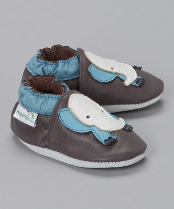 MOMO Baby Brown Elephant Booties