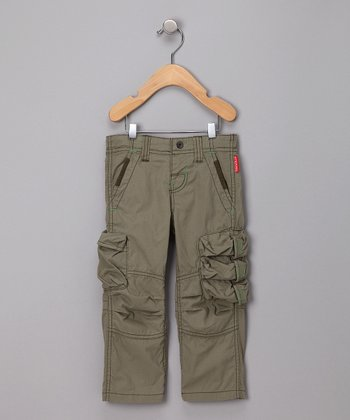 Khaki Sanded Cargo Pants - Infant & Toddler
