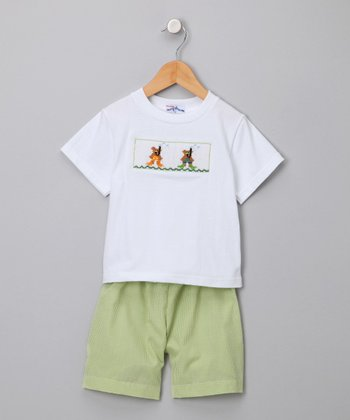 Green Snorkel Shorts & Tee - Infant & Toddler
