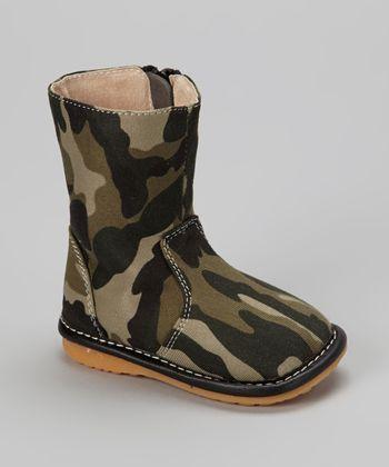 Laniecakes Green Camo Squeaker Boot