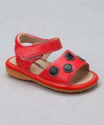Laniecakes Red Ladybug Squeaker Sandal