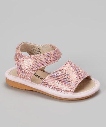 Laniecakes Light Pink Sparkle Squeaker Sandal