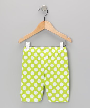 Kiwi Punch Polka Dot Bike Shorts - Infant