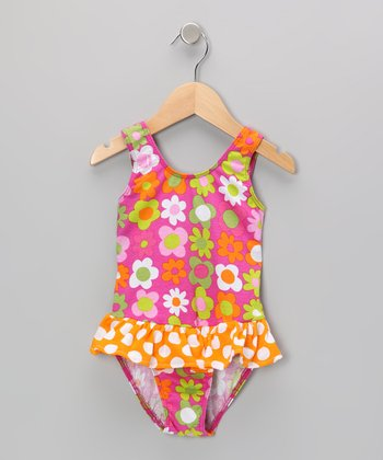 Citrus Fab Floral Skirted Sunsuit - Infant, Toddler & Girls