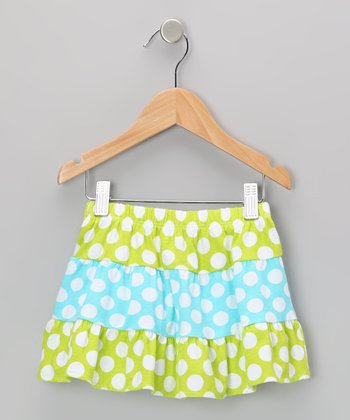 Kiwi Punch Polka Dot Tiered Skirt - Toddler & Girls