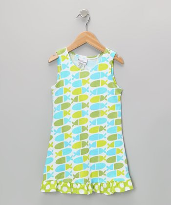 Blue Jellybean Fish Dress - Infant, Toddler & Girls