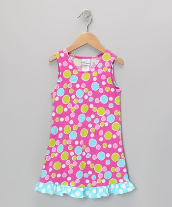 Pink Bubble Dot Dress - Infant & Toddler