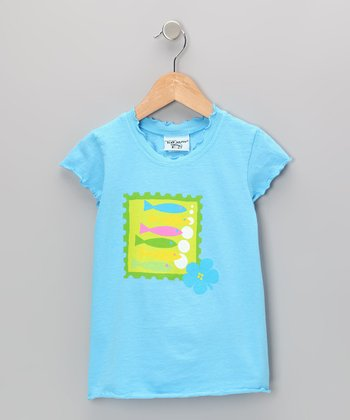 South Pacific Fish Lettuce-Edge Tee - Infant, Toddler & Girls