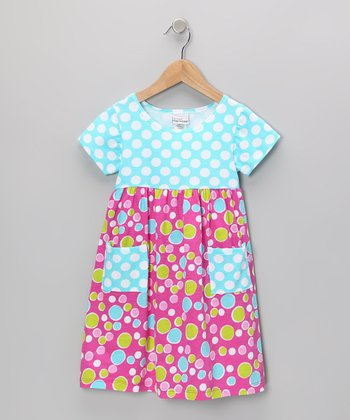 Pink Bubble Dot Pocket Dress - Infant