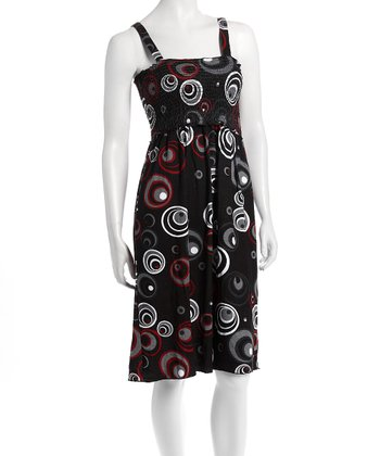 Black & Red Circle Nursing Dress