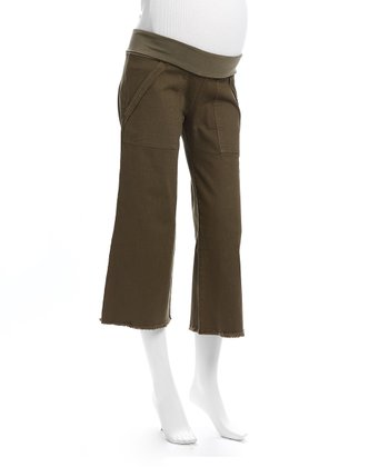 Juliet Dream Olive Maternity Capri Pants