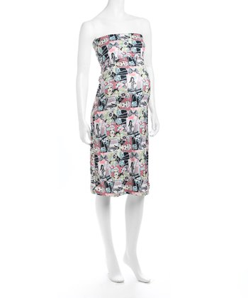 Juliet Dream 'Love' Strapless Maternity Dress