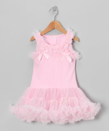 Pink Ruffle Dress - Girls