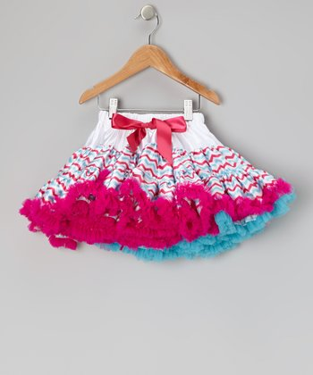 Pink & Blue Zigzag Pettiskirt - Toddler