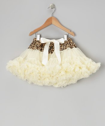 Ivory Cheetah Pettiskirt - Toddler & Girls
