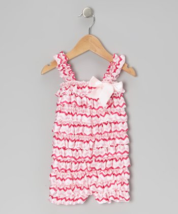 Pink Zigzag Ruffle Romper - Infant & Toddler