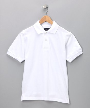 White Cooper Polo - Boys