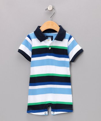 Light Blue Hank Romper - Infant