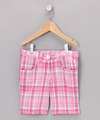 Pink Plaid Kristina Shorts - Toddler & Girls
