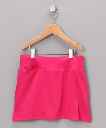 Bright Pink Maddie Skort - Girls