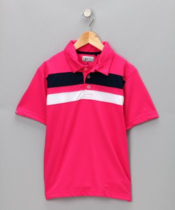 Bright Pink Philip Polo - Boys