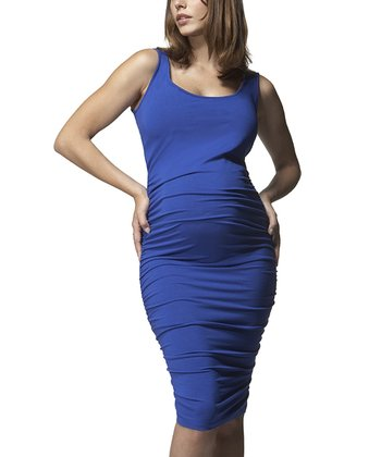 Lagoon Ruched Maternity Dress