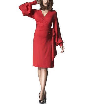 Scarlet Bianca Maternity Wrap Dress