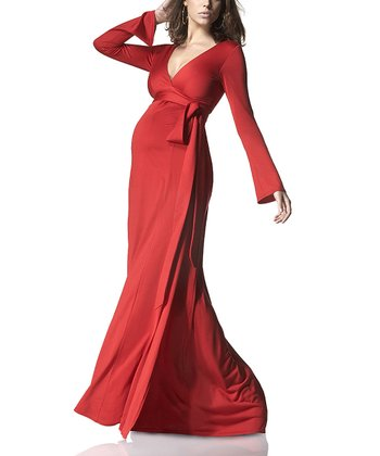Scarlet Wrap Maternity Maxi Dress