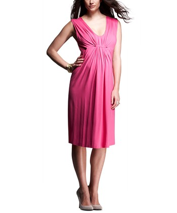 Hot Pink Elena Maternity Dress