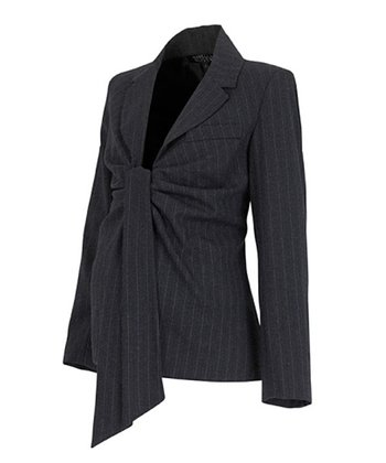 Gray Pinstripe Maternity Jacket