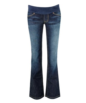 Blue Under-Belly Maternity Flare Jeans