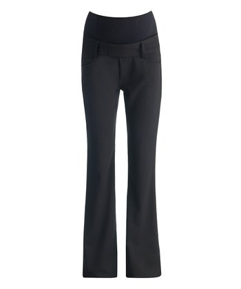 Caviar Black Essential Over-Belly Maternity Trouser Pants