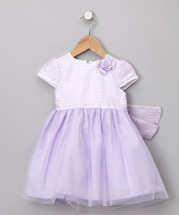 Sugar Plum Lavender Helen Dress - Infant & Toddler