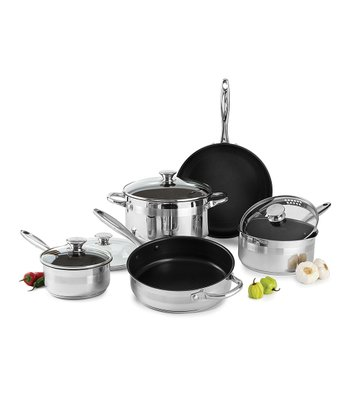 Nonstick Stainless Steel Nine-Piece Cookware Set
