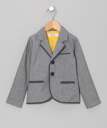 Sailor Gray Pinstripe Blazer - Toddler & Boys