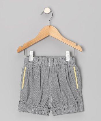 Sailor Blue Pinstripe Bubble Shorts - Toddler & Girls